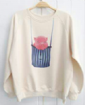 Ladies sweater 'Pig in bag' - free size